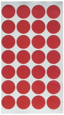 """Charles Leonard Colour Coding Labels, 0.75"""", Red - 1,000/pack"""