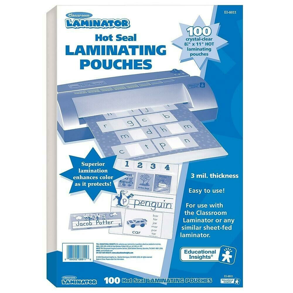 Educational Insights Classroom Laminator Pouch, Silver