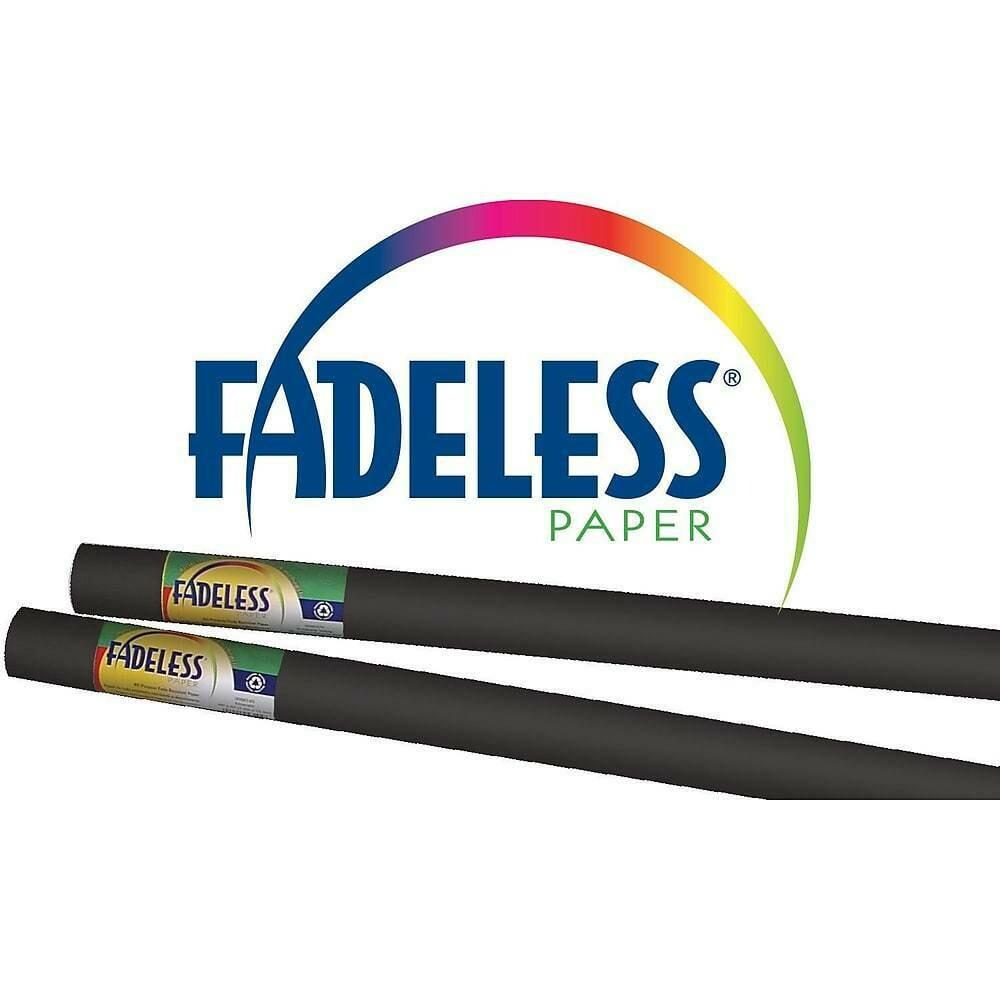 "Pacon Fadeless 48"" x 12' Ultra Fade-Resistant Bulletin Board Paper, Black"