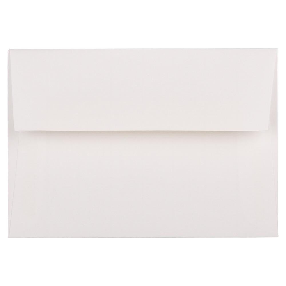 JAM Paper 4bar A1 Envelopes, 3.63 x 5 1/8, Strathmore Bright White Laid, 50/Pack