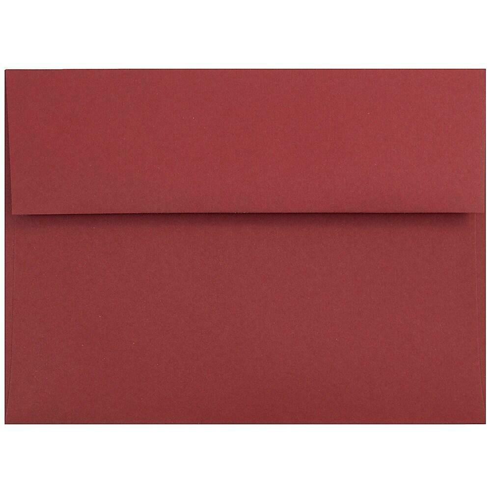 JAM Paper A7 Invitation Envelopes, 5.25 x 7.25, Dark Red, 100/Pack