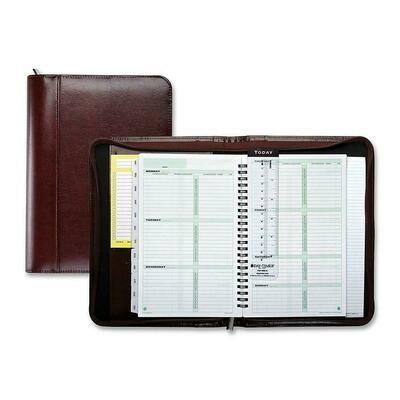 "Day-Timer Aristo Bond Leather Journal, 8-1/2"" x 5-1/2"" Brown"