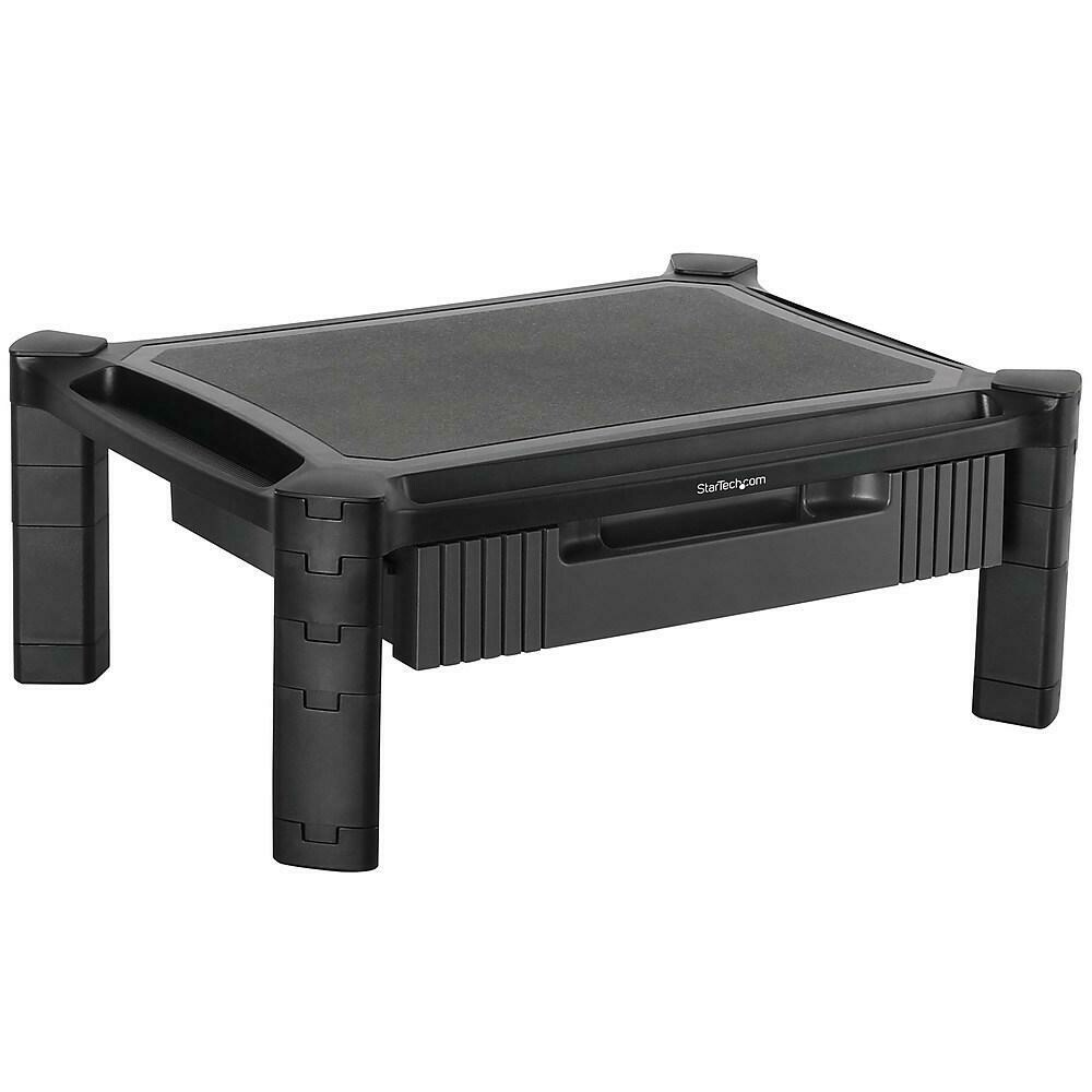 StarTech Monitor Riser with Drawer, Height Adjustable