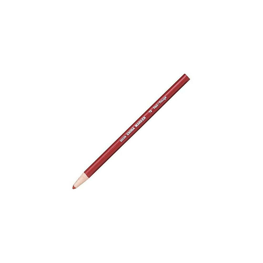 Dixon Phano China Markers, Red, 12/Pack