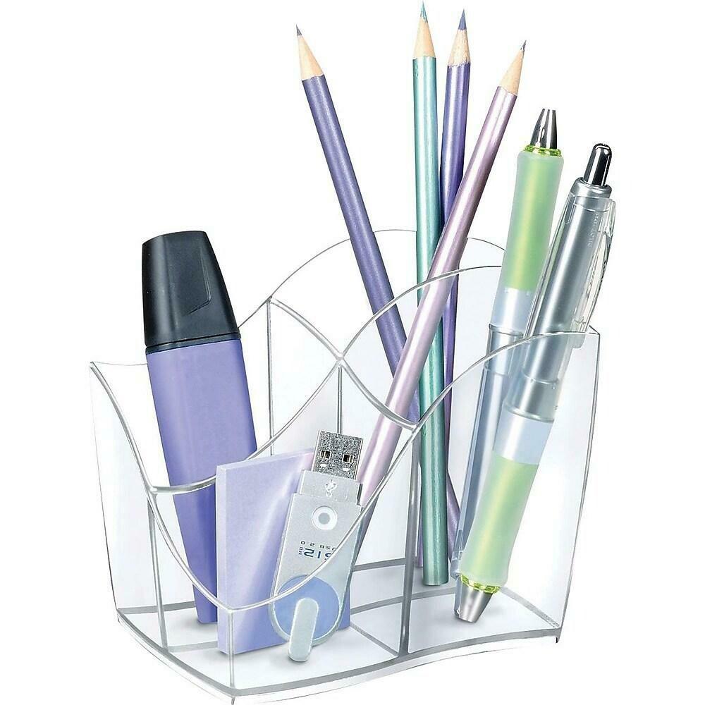 Greenside Ellypse Pencil Holder, Clear