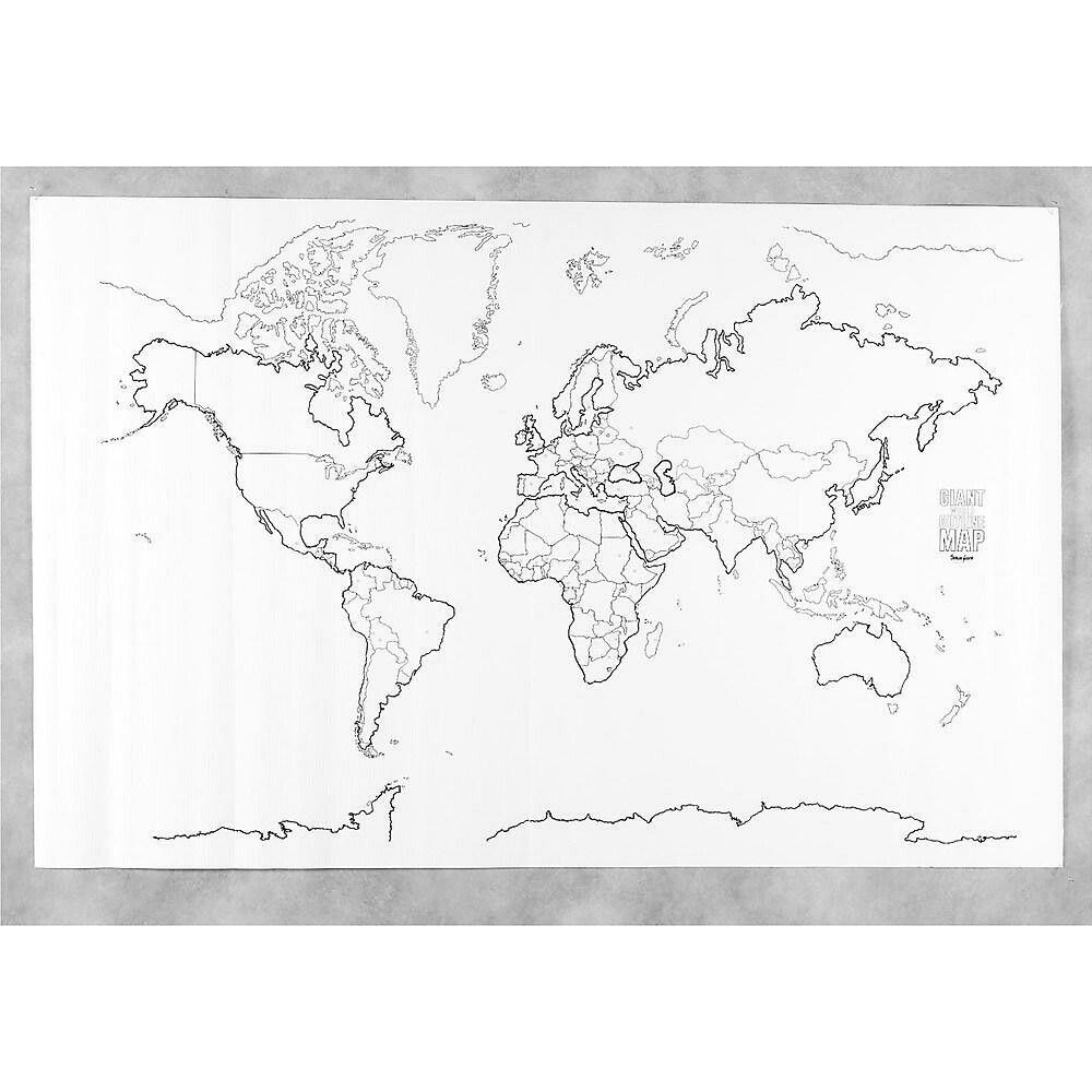 Pacon Corporation Learning Walls World Map