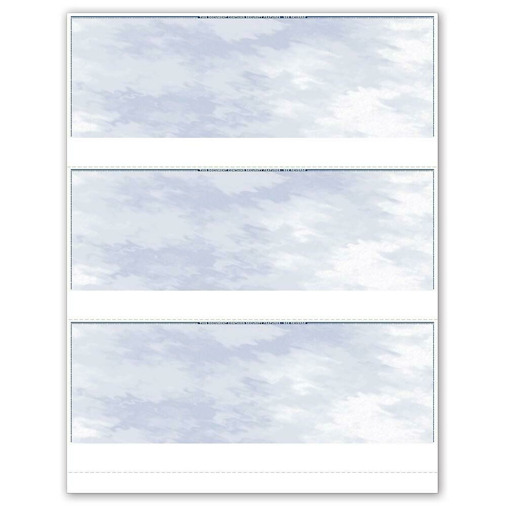"""Standard Laser 3/Page Cheque, Blue, English, 8.5"""" x 11"""", 150/Pack"""
