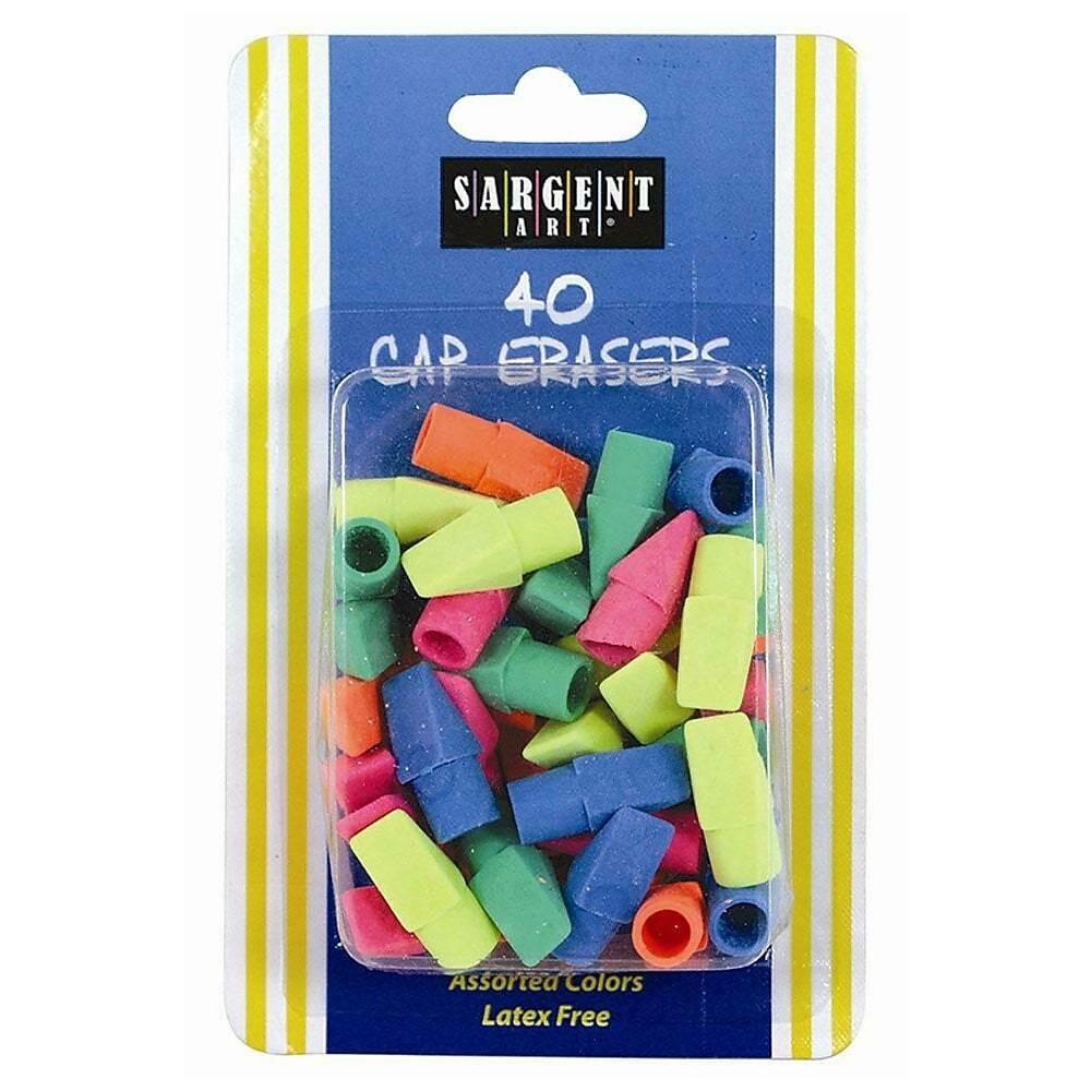Sargent Art 40-count Cap Eraser, Assorted Colors