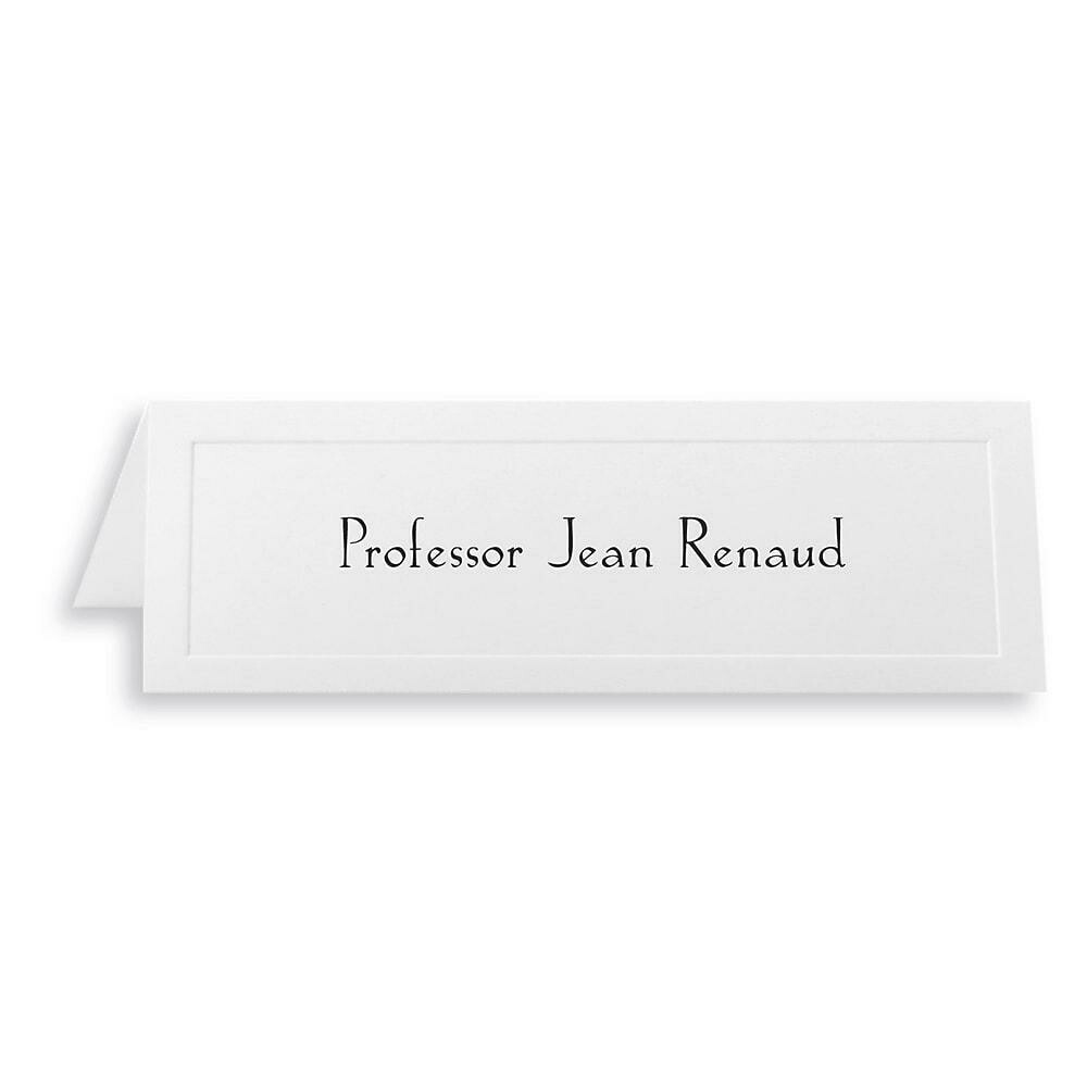 """St. James Overtures Traditional Emboss Tent Cards, folds to 8-1/2 x 2-3/4"""", White, 100 Cards"""