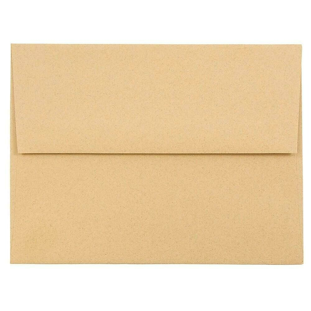 JAM Paper A2 Invitation Envelopes, 4.38 x 5.75, Ginger Brown Recycled, 250/box