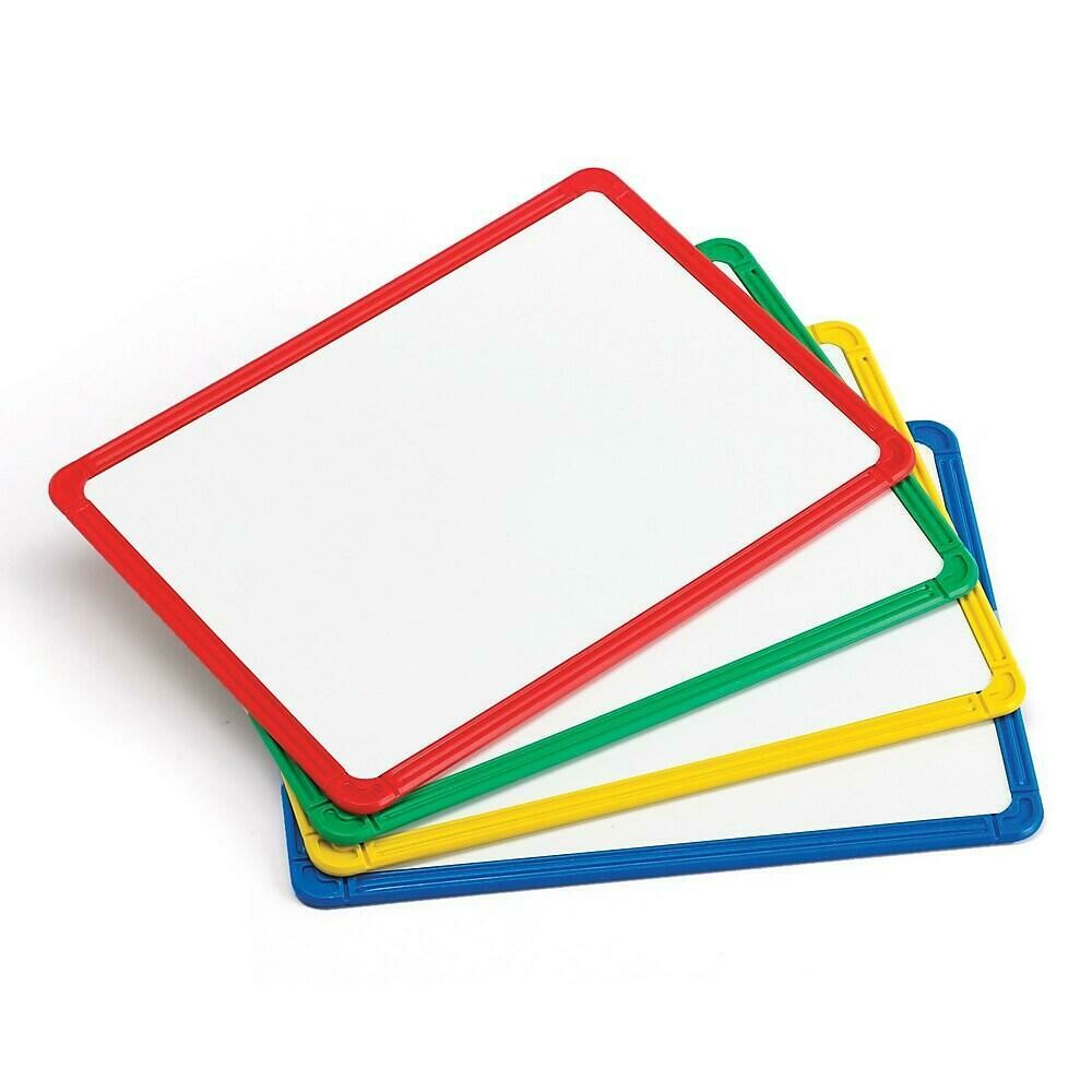 Learning Advantage Plastic Framed Metal Whiteboards, 4/Pack