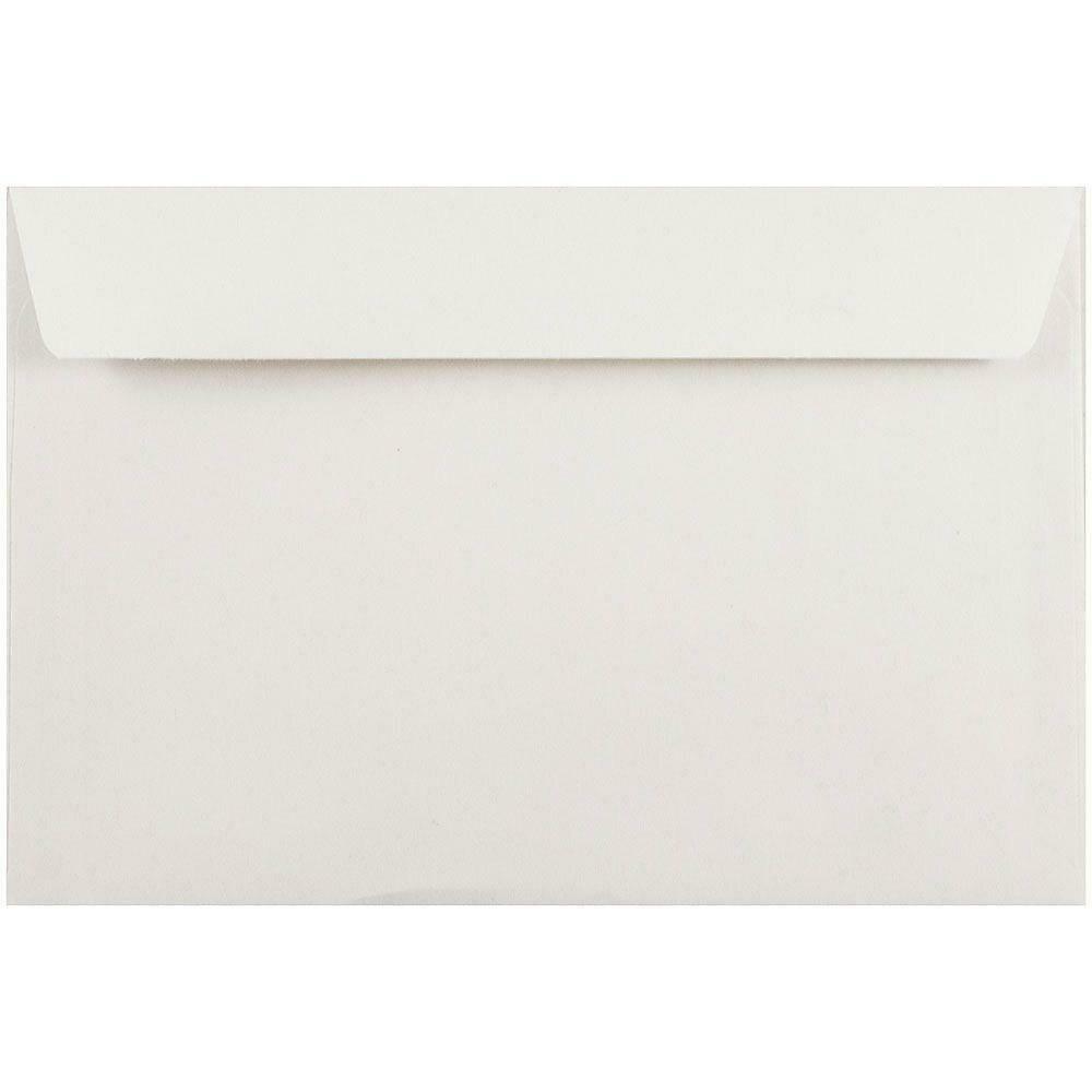 """JAM Paper 6"""" x 9"""" Booklet Envelopes, White, 500/Pack"""