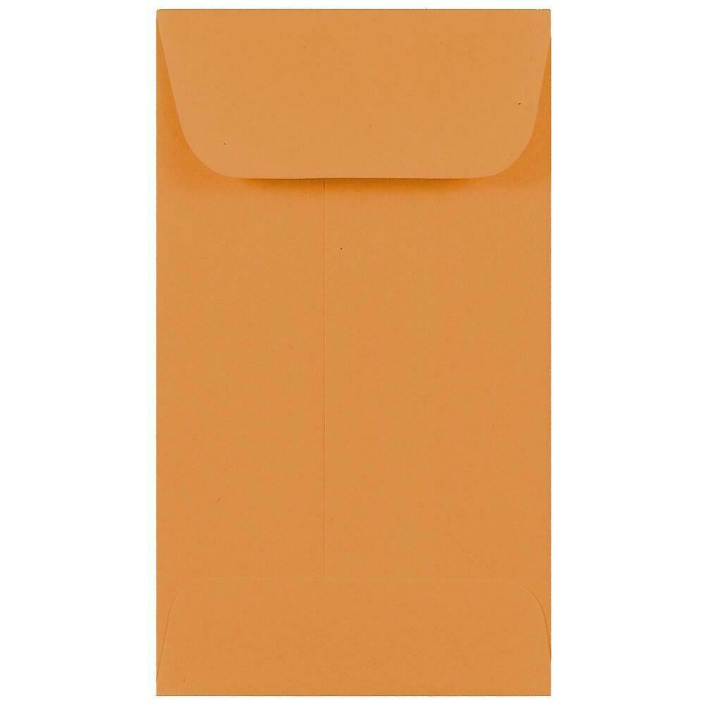 JAM Paper #3 Coin Envelopes, 2.5 x 4.25, Brown Kraft, 500/Pack