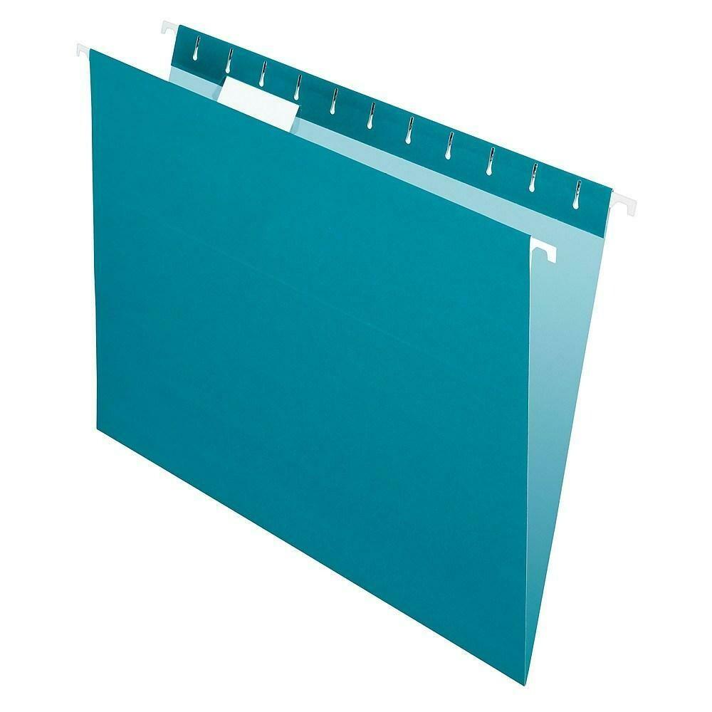 Pendaflex Coloured File Hanging Folder, Letter Size, Teal, 25/Box