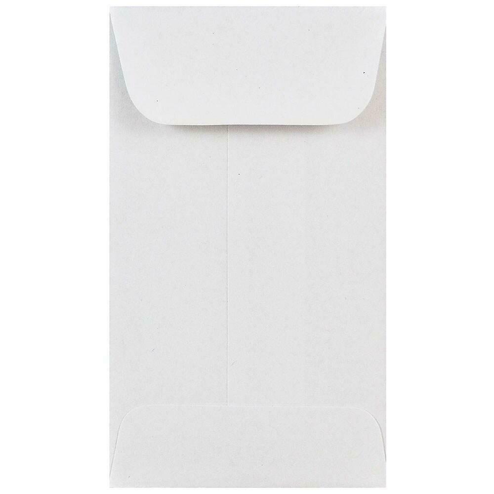 JAM Paper #3 Coin Envelopes, 2.5 x 4.25, White, 50/Pack