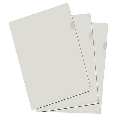 """Filemode 11"""" x 17"""" Poly View Folders, Clear, 10/Pack"""