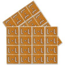 "Oxford Datafile Compatible Alpha Label, ""L"", Light Brown, 240/Pack"