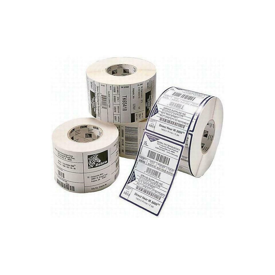 """Zebra 800272-125 Thermal Transfer, 1.25""""L x 2 1/4""""W, 2100 Labels/Roll, 12 Rolls"""