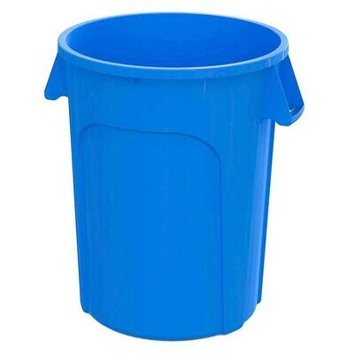 Globe 44 Gallon Waste Container, Durable Garbage Bin, Blue