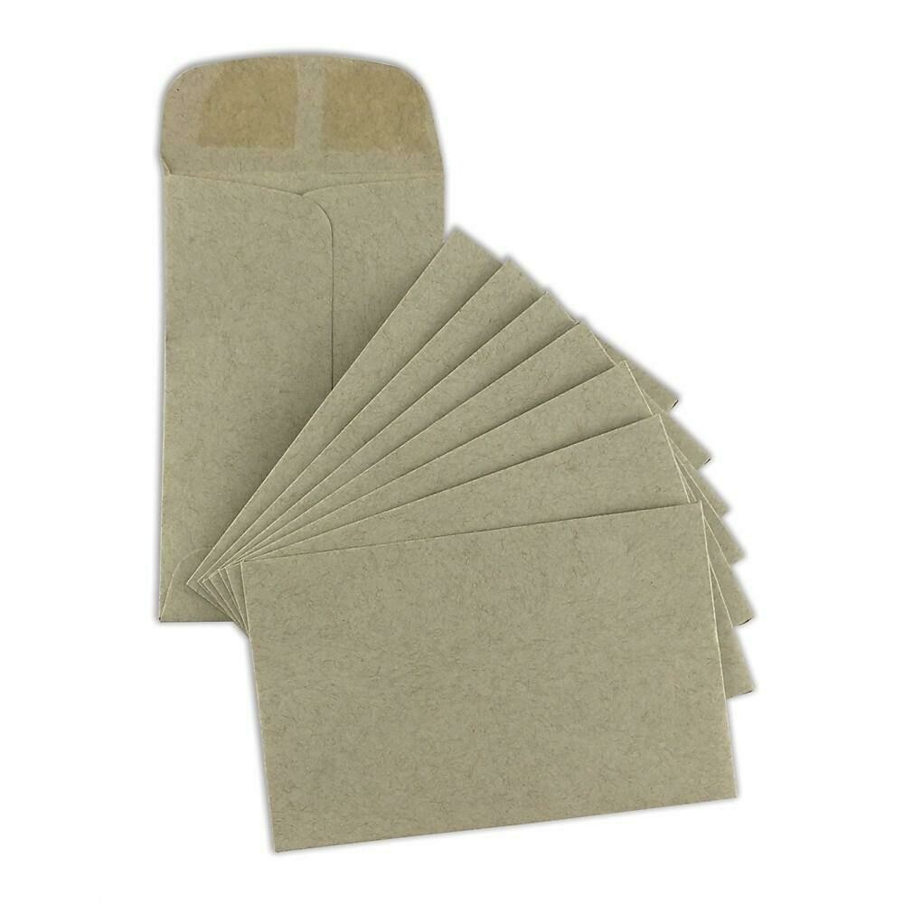 "SupremeX Coin Open End #1, 2-1/4"" x 3-1/2"", Natural Kraft, 1000/Pack"