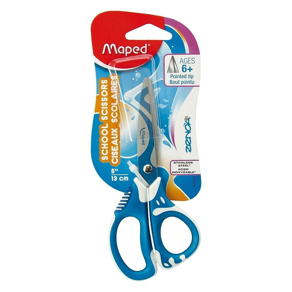 Maped USA Zenoa Fit Pointed Tip Scissors, Assorted