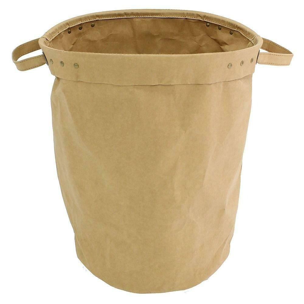 Cathay Importers Eco-Friendly Paper Round Storage Basket, Brown, Large
