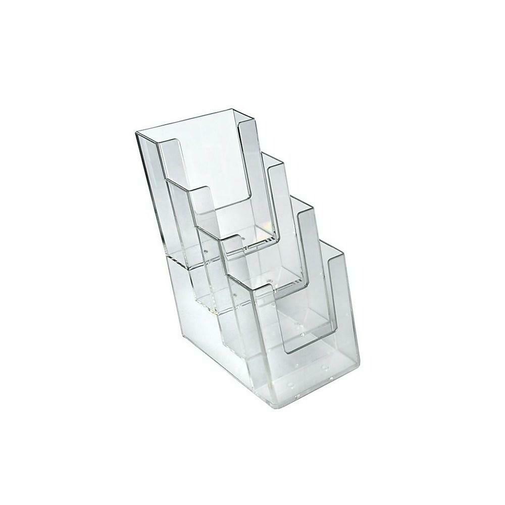 Azar Displays 4-Tier 4-Pocket Trifold Brochure Holder, 2 Pack