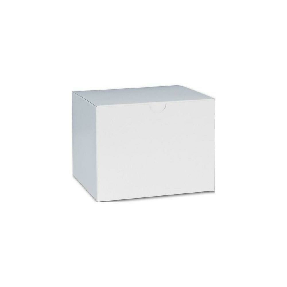 "One-Piece Gift Boxes, 4-1/2"" x 4-1/2"" x 6"", White, 100 Pack"