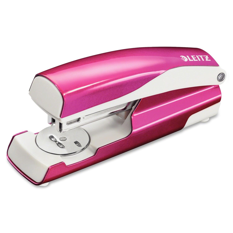 "Leitz Nexxt Series Wow Desktop Stapler - 40 Sheets Capacity - Full Strip - 5/16"" Staple Size - Pink"