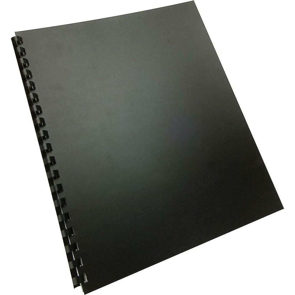 "GBC Polypropylene Binding Covers 8.5"" x 11"" Black - 25/pack"