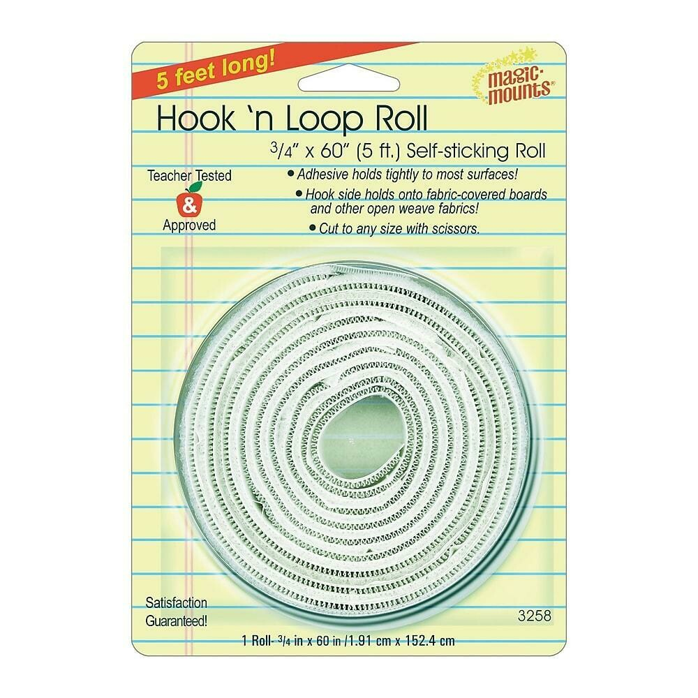 "Miller Studio Hook 'n Loop Mounting Roll - 3/4"" x 5' White"