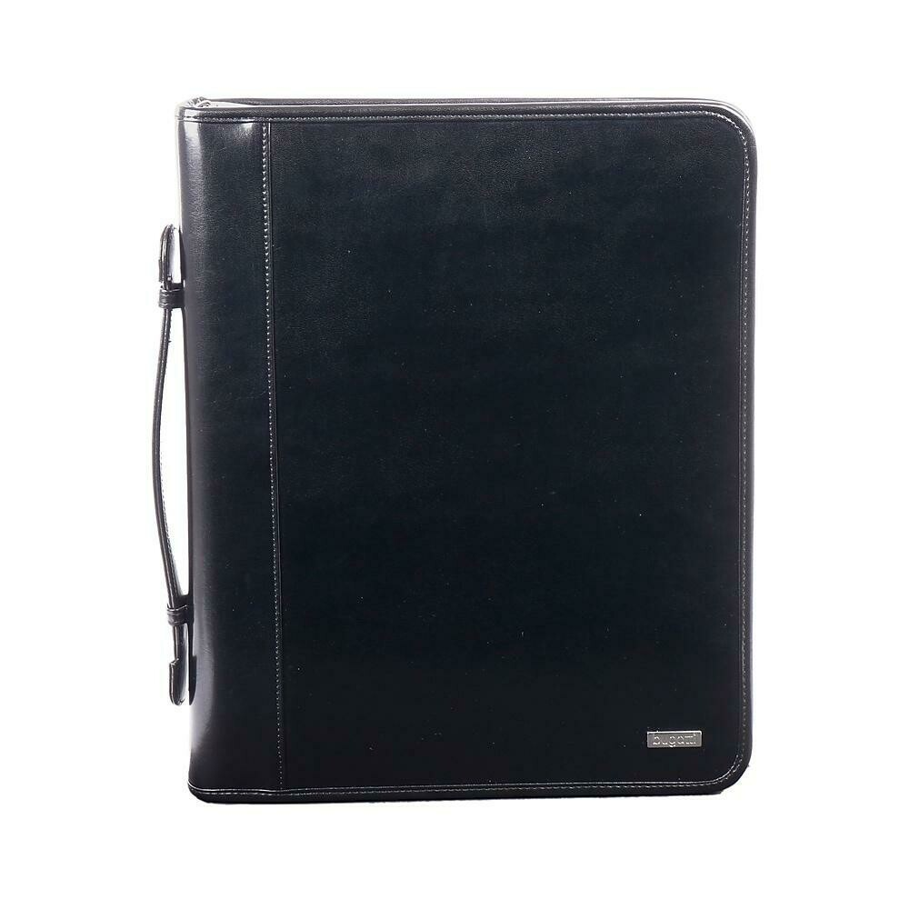 Bugatti Ring Binder In Leather, Black