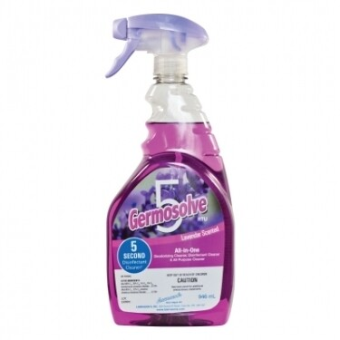 Germosolve 5 Ready-to-use, All-in-one, Disinfectant, Deodorizer, and All Purpose Cleaner - 946mL Lavender Scented