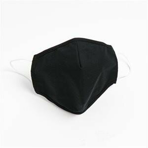 Washable & Reusable Face Mask - Black - 5/pack