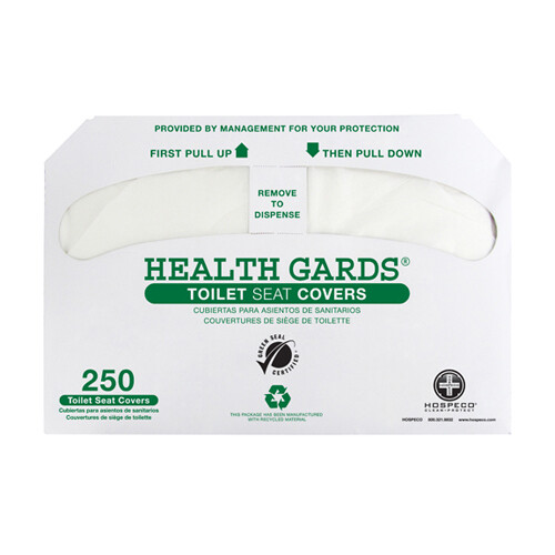 Hospeco Health Gards® Recycled Toilet Seat Covers - 250/pack