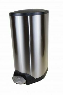 10L Step-On Container Stainless Steel With Soft Close Lid