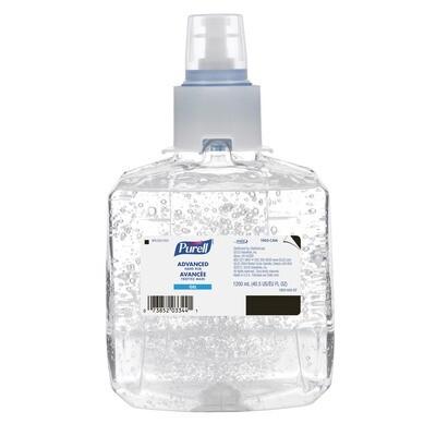 Purell LTX Advanced Gel Hand Sanitizer Refills,  1,200 mL, 70% Alcohol Content, 2/case