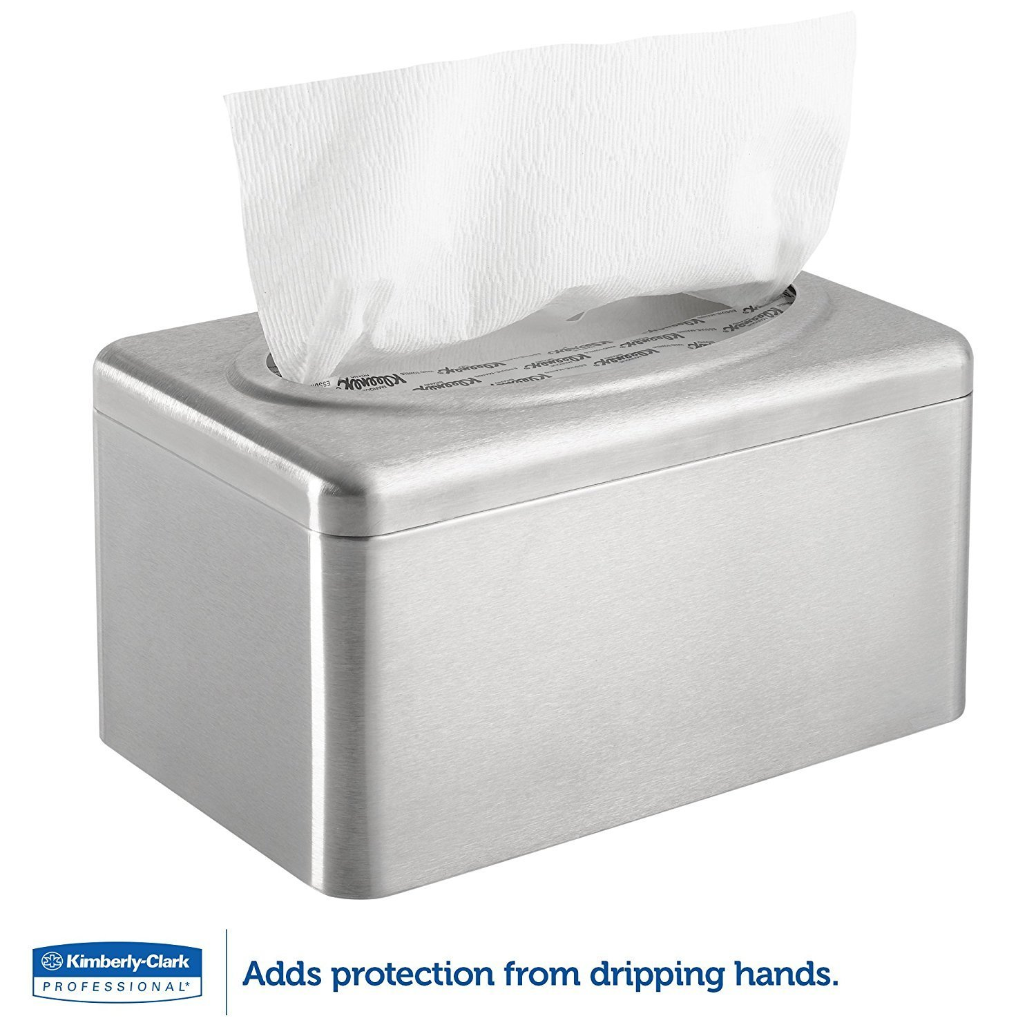 Kimberly-Clark Professional 09924 Kleenex Towel Box Cover for POP-UP Box, Stainless Steel