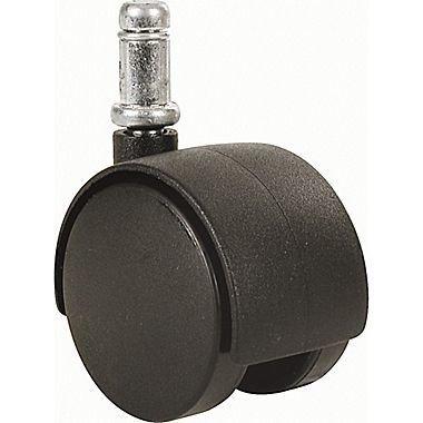 "Twin Wheel Casters (300/400 Series) - 2"" Diam. Black"