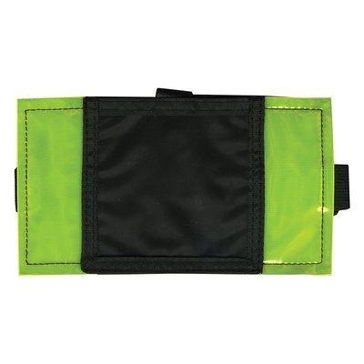 Advantus  Advantus Reflective Arm Badge Holder, Maximum Badge Size: 3.25 x 3.18 Inches, Green/Black
