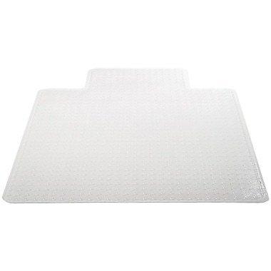 "Deflecto Chair Vinyl Chair Mat for Carpet, Rectangular With Lip, 48"" x 36"""
