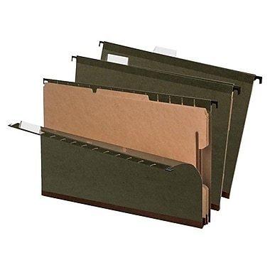 Pendaflex® SureHook™ Reinforced Hanging Folder With 2 Dividers, Legal Size, Standard Green, 10/Box