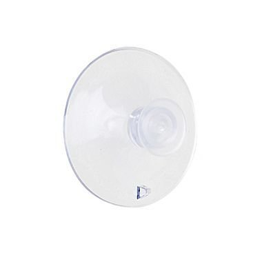 """Kostklip® Suction Cup with Thumb Tack, 1.75"""", Clear, 10/Pack"""