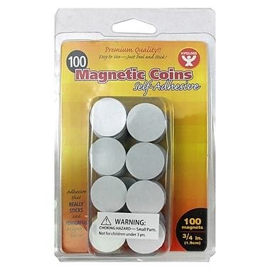 Hygloss Self Adhesive Magnetic Coins - 100/pack