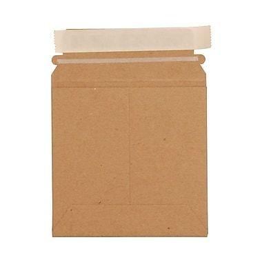 JAM Paper Photo Mailer Stiff Envelopes, Self Adhesive Closure, 6 x 6 Square, Brown Kraft Recycled, 20/Pack