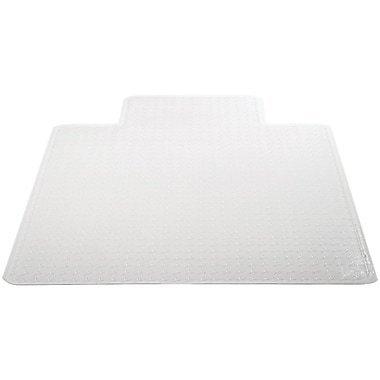 "Deflecto Chair Vinyl Chair Mat for Carpet, Rectangular With Lip, 53"" x 45"""