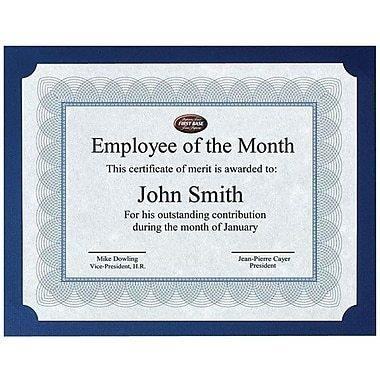 First Base St. James Certificate Holder, Navy Blue, 25/Pack