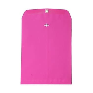 JAM Paper 10 x 13 Open End Catalog Envelopes with Clasp Closure, Brite Hue Ultra Fuchsia Pink, 100/Pack