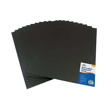 "Alvin Black On Black Presentation Boards 16"" X 20"", 10/Pack"