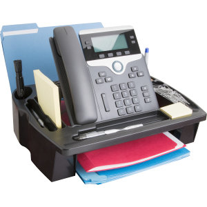 Compucessory Plastic Telephone Stand, Black